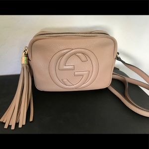 Authentic Gucci Soho Leather Disco Bag